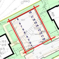 Plan zagospodarowanie razem z miejscami parkingowymi